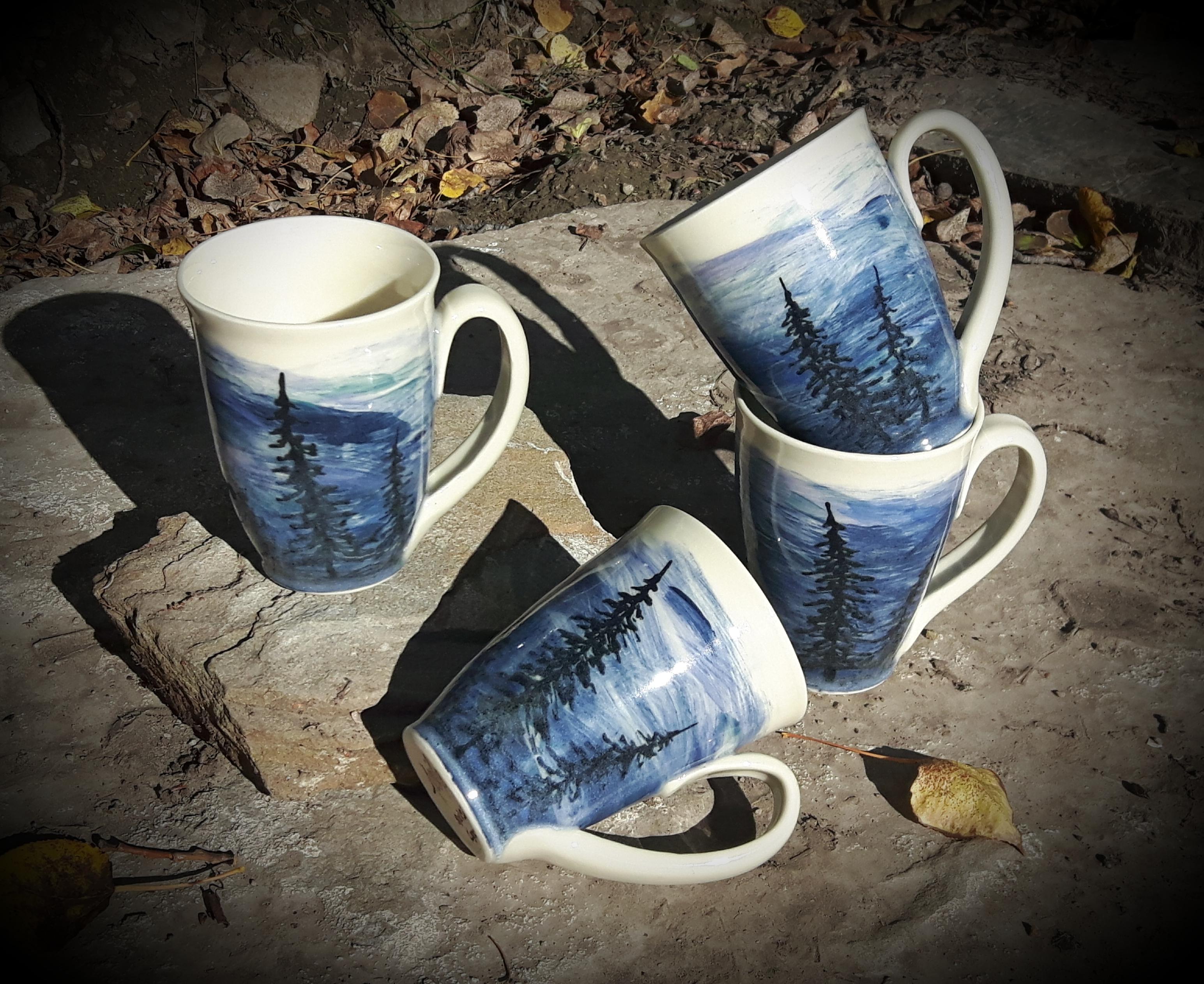 Blues Silhouette Mugs