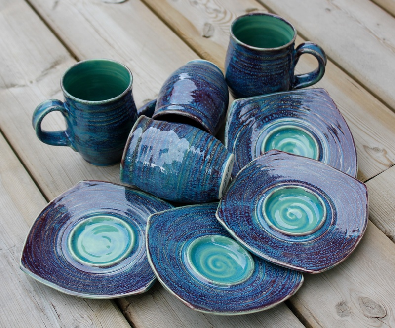 Cups with Saucers Set