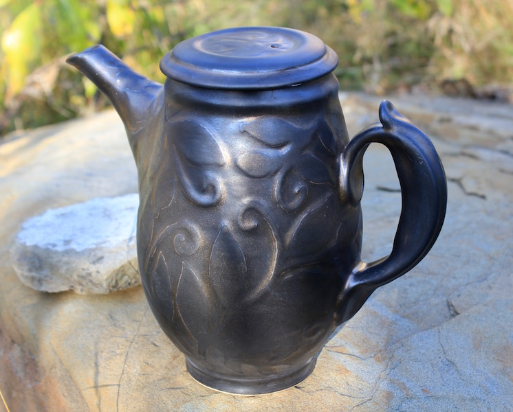 Water Etched Tea Pot