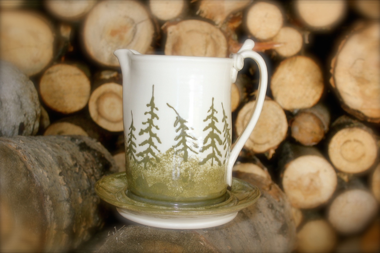 """Pine Forest"" Gravy Pitcher Set ~ Photo 1"