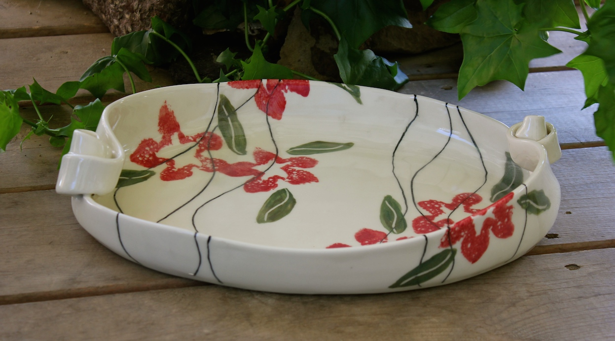 Clematis Serving Platter