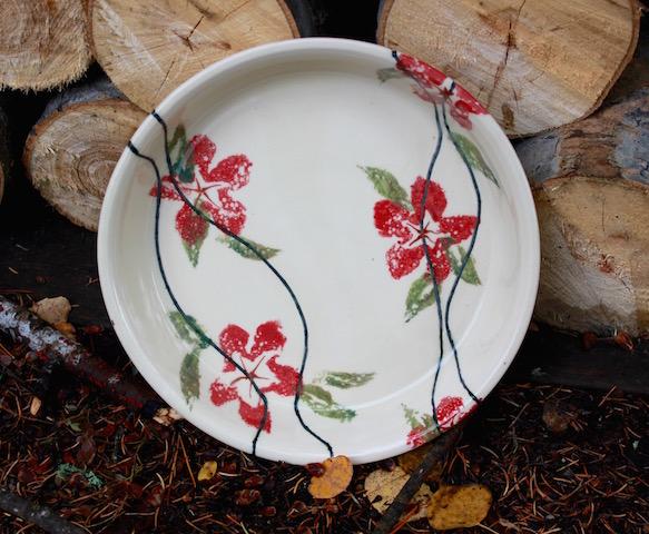 ~ Clematis Quiche / Pie Dish ~